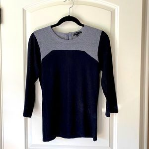 🍍 Sheer Black and Silver Metallic Sweater size M